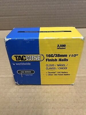 Tacwise 16g/38mm  Brad finish  Nails 2500  boxed professional 2 boxes