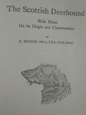 1972 Reprint of 1892 The SCOTTISH DEERHOUND by E. Weston Bell