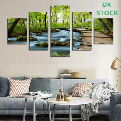 5 PCS Landscape Dream Land Canvas Painting Print Wall Art Picture Home Decor UK
