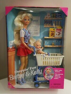 Vintage Shoppin' Fun Barbie & Kelly Dolls 1995 Mattel #15756