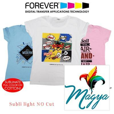 """Forever Subli Light (Not Cut) 8.5""""x11"""" 30 Sheets Sublimation Self Weeding"""