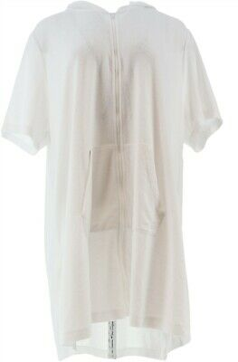Cuddl Duds Sun Baby Terry Zip-Up Robe Hood White 3X NEW A346877