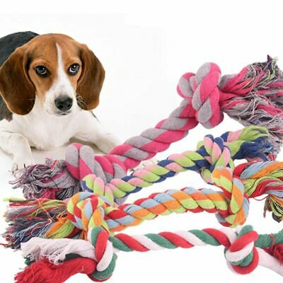 Cotton Rope Pet Dog Toy Puppy Cat Chew Knot Durable Braided Bone Teeth Cleaning