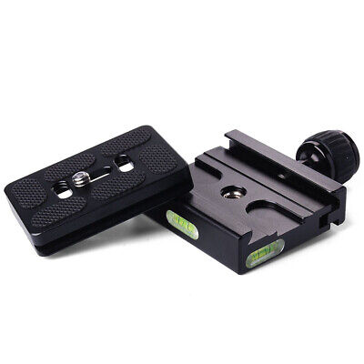 PU-60 Quick Release Plate + Metal Clamp for Manfrotto Arca Swiss Tripod BallHead