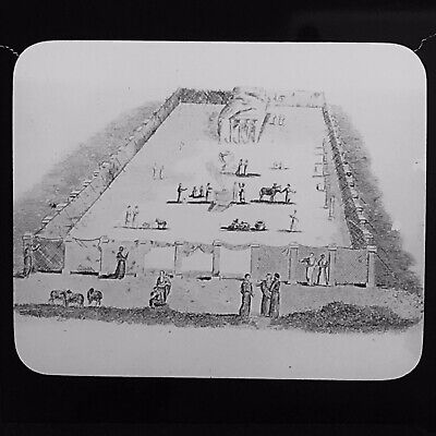 Antique Magic Lantern Slide The Tabernacle In The Wilderness Holy Land Palestine