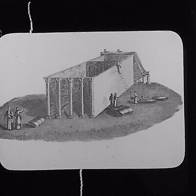 Antique Magic Lantern Slide The Tabernacle Uncovered Holy Land Palestine History