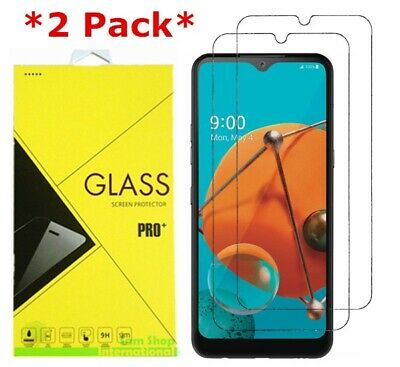 2-Pack Premium Real 9H Tempered Glass Screen Protector Film For LG K51