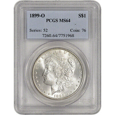 1899-O US Morgan Silver Dollar $1 - PCGS MS64