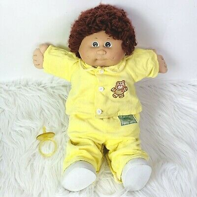 Vintage Cabbage Patch Kid Doll 1985 Coleco Red Hair Pacifier Original Clothes