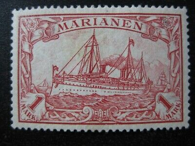 MARIANEN GERMAN COLONY Mi. #16 mint Kaiser Yacht stamp!