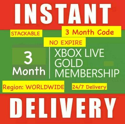 Xbox Live 3 Month Gold Membership INSTANT DELIVERY! 24/7 DISPATCH
