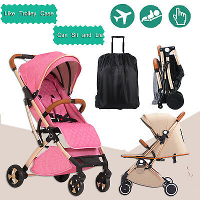 Foldable Infant Baby Stroller Pram Compact Lightweight Travel Carry-on Plane