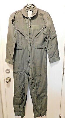 Flight Suit Coveralls Flyers Green CWU-27/P Fire Resistant 38-Short Used