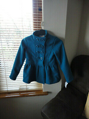 Stunning Teal Double Breasted Jacket from ONME, Size 7-8yo,New with tags