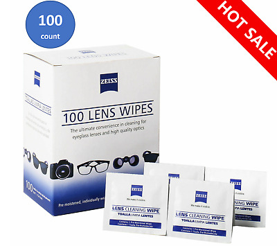 100 ZEISS  Lens Cleaning Eye Glasses Computer Phone Optical Lens Cleaner LCD LED