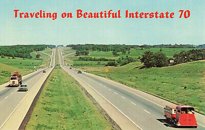 Postcard Travelling On Interstate 70