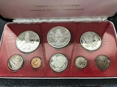 1974 Cayman Islands Proof Coin Mint set in Presentation Case