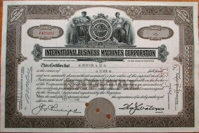 IBM 'International Business Machines' 1945 OLD VERSION Stock Certificate