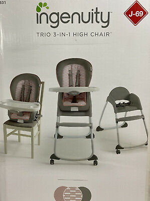Ingenuity 3-in-1 High Chair, Toddler Chair, and Booster (Ellison)