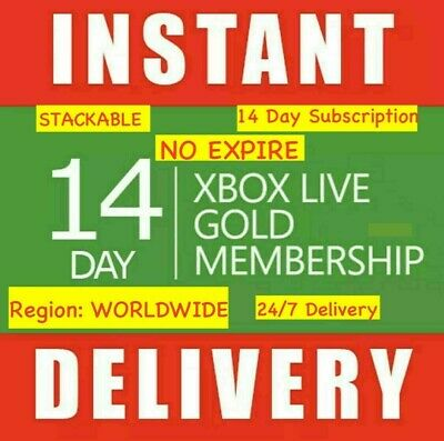 Xbox Live 14 Day Xbox One Gold-Ultimate W/ Game Pass Code 24/7 Instant Dispatch