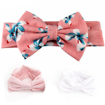 3pcs/Set Kids Hair Bands Newborn Bow Baby Girl Headband Ribbon Elastic Headdress