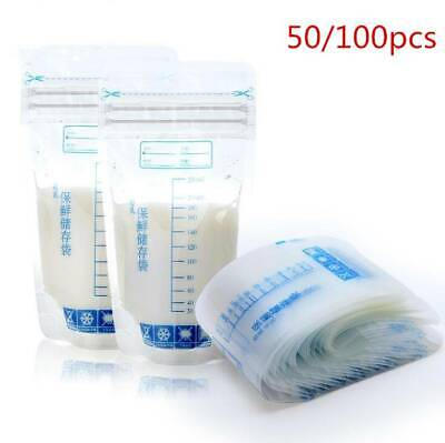 Breast Milk Storage Bags Freezer Pre Sterilised Easy Seal Storage Containers