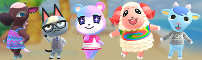 Animal Crossing New Horizons Choose A Villager + 300NMT + 300 Gold Nuggets