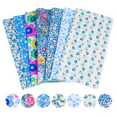 UK Mixed 100% Cotton Fabric Material Bundle Scraps Offcuts Quilting Fabric 25cm*
