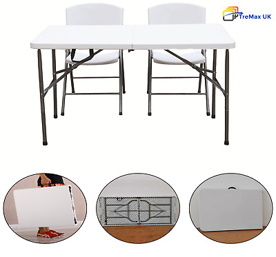 Heavy Duty Folding Table Portable Plastic Camping Garden Trestle Party 6FT 4FT