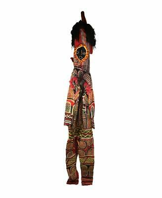 Igbo Appliqued Dance Costume with Cloth Mask Nigeria African Art