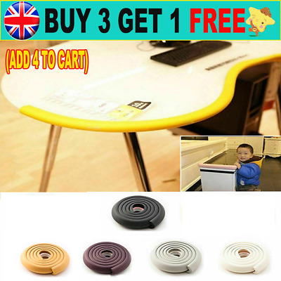 Kid Baby Safety Foam Rubber Bumper Strip Safety Table Edge Corner Protector CW
