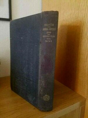 Vintage  ANNUAL REPORT OF DIRECTOR OF THE MINT June 30 1900 Book