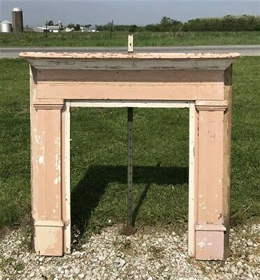 Wood Fireplace Mantel, Architectural Salvage Victorian Rustic Surround Vintage c