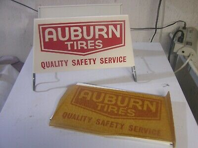 Nos Auburn Tire Display Rack Service Station Gas And Oil Collectible