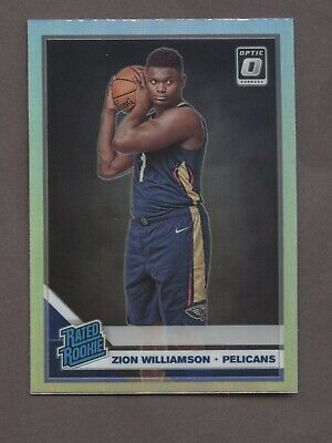 2019-20 Panini Donruss Optic Prizm #158 Zion Williamson RC Rookie