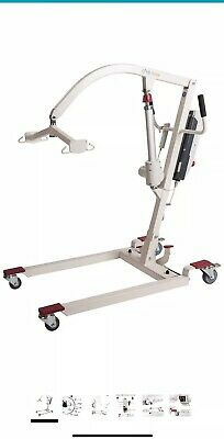 Hi-Fortune Electric Patient Lift Hydraulic Portable Lift with Full Mesh Sling