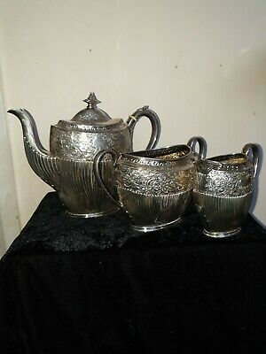 Superb Antique Victorian sterling silver tea/coffee set, 957g, in weight  !!