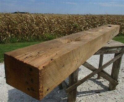 Reclaimed Barn Beam Wood Shelf, Architectural Salvage Fireplace Mantle a13,
