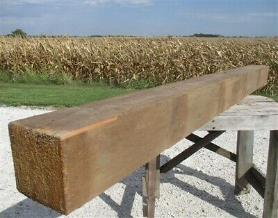 Reclaimed Barn Beam Wood Shelf, Architectural Salvage Fireplace Mantle a19,