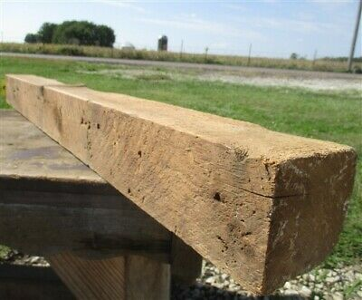 Reclaimed Barn Beam Wood Shelf, Architectural Salvage Fireplace Mantle a36,