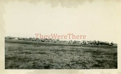 *WWII photo-US GI View of Captured Japanese BOMBER & FIGHTER planes on Airfield*