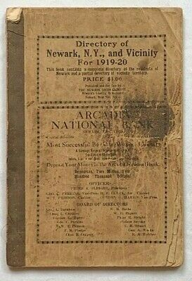 Directory of Newark, NY and Vicinity 1919-20, map of 1933