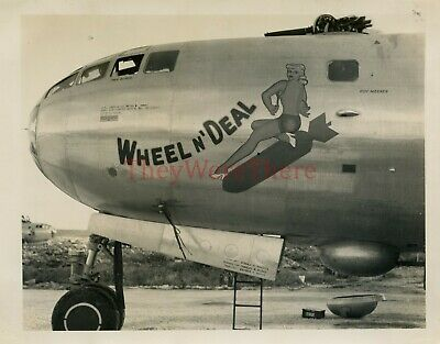 *WWII photo- B 29 Superfortress Bomber plane Nose Art - WHEEL N' DEAL*