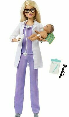 Barbie Doll Pediatrician Playset Doctor with Baby