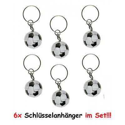 (0.97 €/ 1st) 6x Key Ring Football Ball Sport Pendant Party Tombola
