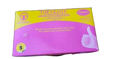 TopGlove Vinyl Powdered Small Disposable Gloves Qty 200 Not In Original Box