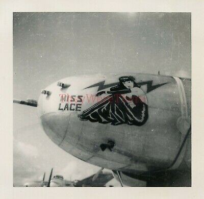 *WWII photo- Douglas A 26 Invader Bomber plane Nose Art - MISS LACE*