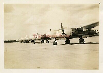 *WWII photo- Douglas A 26 Invader Bomber plane FLIGHT LINE on INDIA Airfield*