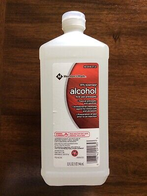 91% Isopropyl Rubbing Alcohol 32 oz Member's Mark First Aid New Antiseptic