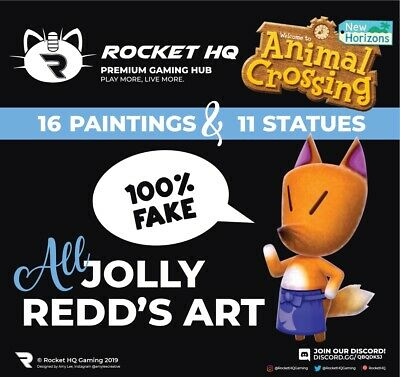 Animal Crossing: New Horizons - ALL JOLLY REDD'S HAUNTED PAINTINGS & STATUES!!!